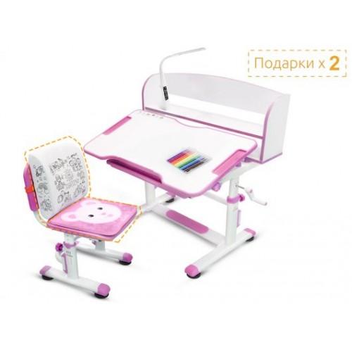 Детский комплект парта и стульчик Mealux BD-10 (с лампой)