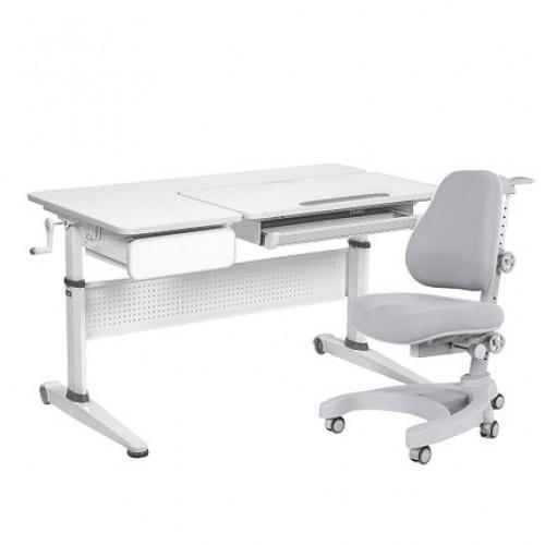 Парта-трансформер aster grey cubby + кресло magnolia grey cubby