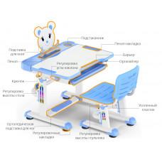 Комплект парта и стульчик Mealux BD-04 New Teddy