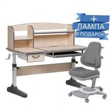 Комплект парта-трансформер Ammi Grey Cubby + Кресло FunDesk Bravo Grey