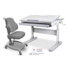 Детский комплект стол Mealux Edmonton Multicolor + кресло ErgoKids Y-402