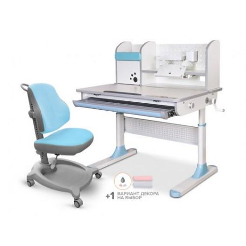 Комплект стол Mealux Edmonton Multicolor + кресло ErgoKids Y-402 с надстройкой