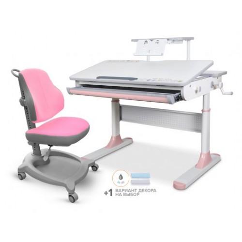 Комплект стол Mealux Edmonton Multicolor + кресло ErgoKids Y-402 с полкой